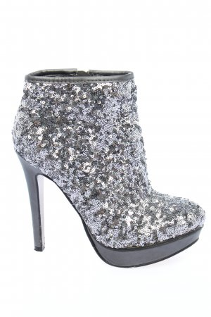 Catwalk Platform Booties light grey-silver-colored casual look