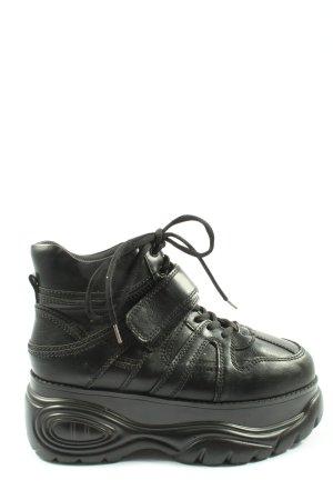 Catwalk Platform Trainers black casual look