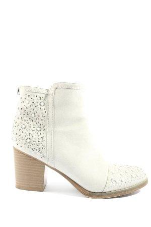 Catwalk Botki z zamkiem  w kolorze białej wełny W stylu casual