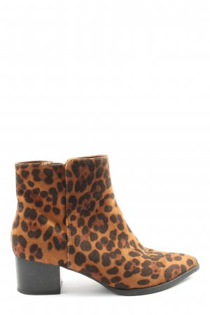 Catwalk Zipper Booties leopard pattern elegant