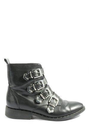 Catwalk Botki z zamkiem  czarny W stylu casual