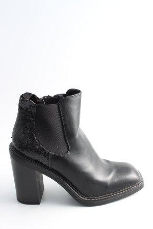 Catwalk Reißverschluss-Stiefeletten schwarz Casual-Look