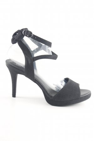 Catwalk Riemchenpumps schwarz Business-Look