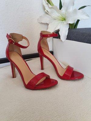 Catwalk Sandales à talons hauts et lanière rouge-rouge brique