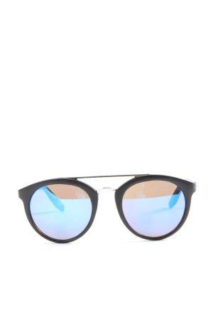 Catwalk Gafas de sol redondas negro-azul look casual