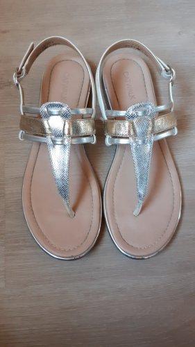 Catwalk Sandales à lanière argenté-doré