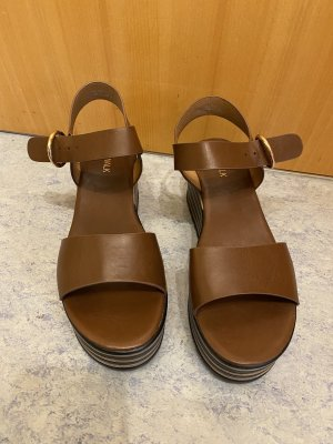 Catwalk Sandalias de tacón con plataforma negro-marrón