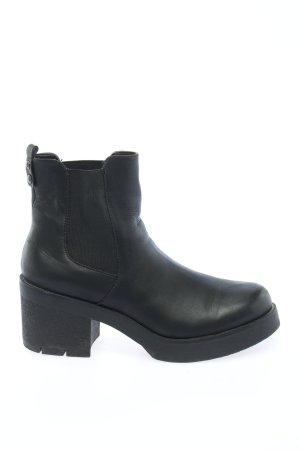 Catwalk Wciągane buty za kostkę czarny W stylu casual