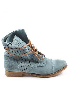 Catwalk Schnür-Stiefeletten blau Casual-Look
