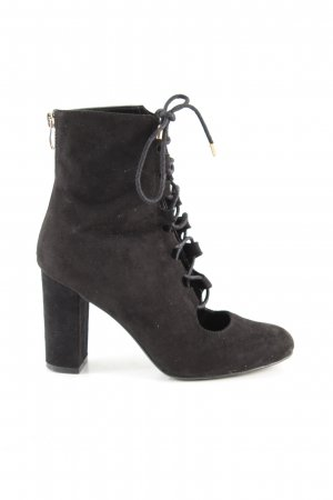 Catwalk Lace-up Booties black casual look