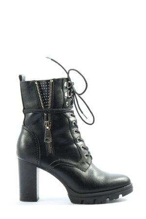 Catwalk Sznurowane botki czarny W stylu casual