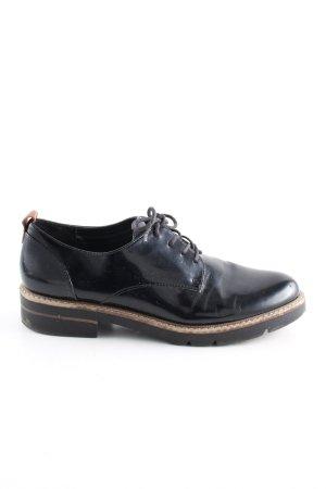 Catwalk Lace Shoes black-cream business style