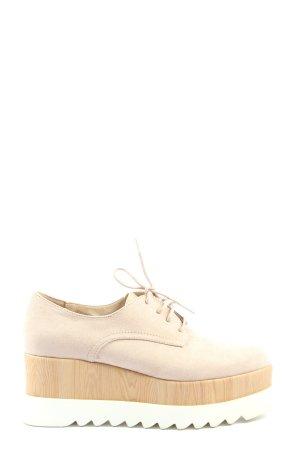Catwalk Chaussures à lacets blanc cassé style décontracté