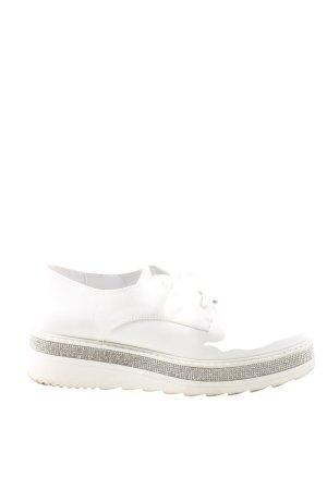 Catwalk Schnürschuhe weiß-silberfarben Casual-Look