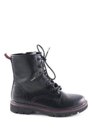 Catwalk Botas con cordones negro-rojo look casual