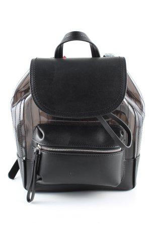 Catwalk Schulrucksack schwarz Streifenmuster Casual-Look