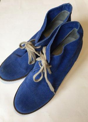 Catwalk Wedge Booties blue