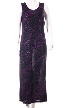 Catwalk Stretch Dress black-lilac party style