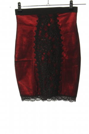 Catwalk Falda stretch rojo-negro degradado de color elegante