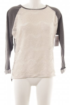Catwalk Sweatshirt grau-creme Casual-Look