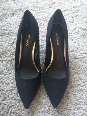 Catwalk Velourpumps mit goldener Ferse Gr. 39 NEW