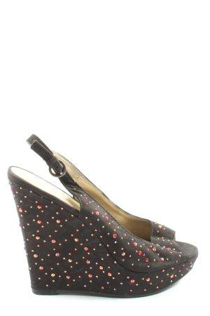 Catwalk Wedge Sandals brown glittery