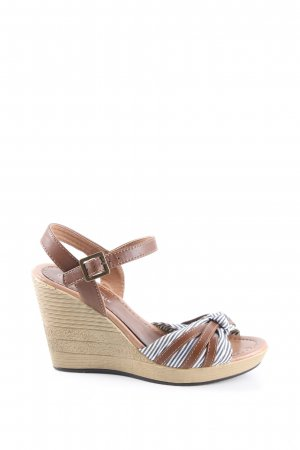 Catwalk Wedges Sandaletten Streifenmuster Casual-Look