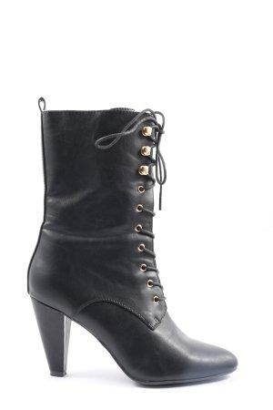 Catwalk Schnür-Stiefeletten schwarz Elegant