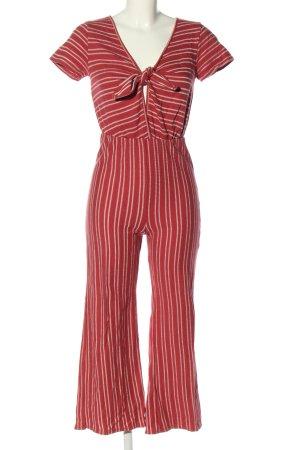 Caution to the wind Tuta rosso-bianco stampa integrale stile casual