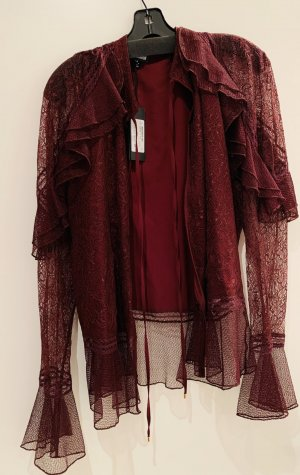 Just cavalli Ruche blouse karmijn