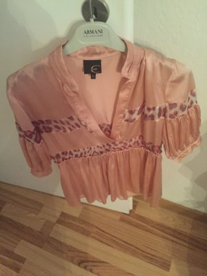Cavalli Blouse light pink-cornflower blue