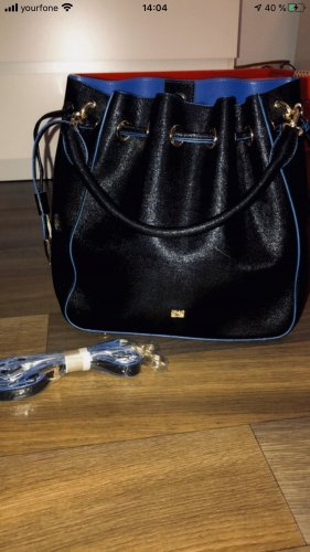 Cavalli Pouch Bag black-blue