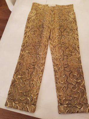Cavalli Boot Cut spijkerbroek goud Lycra
