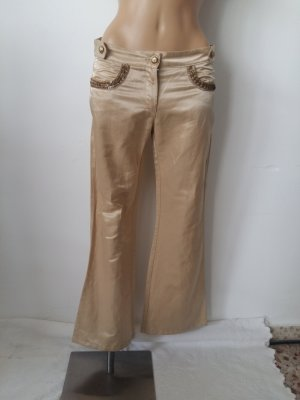 Cavalli Low-Rise Trousers beige cotton