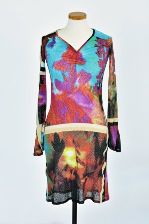 Just cavalli Robe à manches longues multicolore polyester