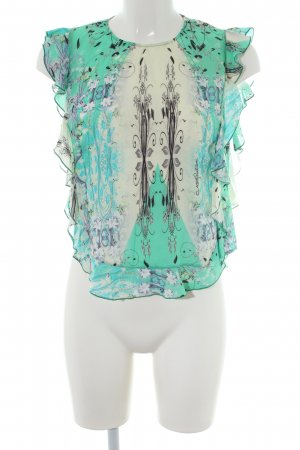 Cavalli Short Sleeved Blouse abstract pattern casual look