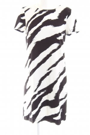 Cavalli Shortsleeve Dress white-black allover print casual look