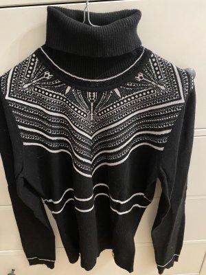 Cavalli Turtleneck Sweater black-white
