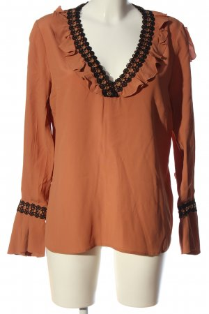 Cavalli Ruche blouse bruin casual uitstraling
