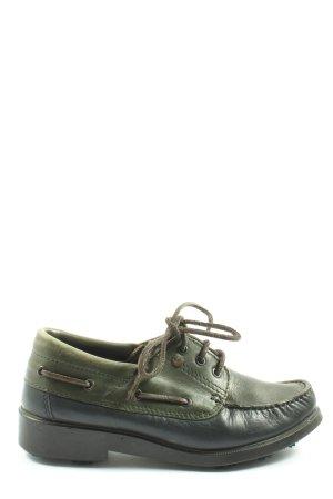 Cavallo Sznurowane buty khaki-czarny W stylu casual