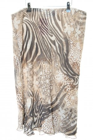 Cavita Stretchrock weiß-braun Animalmuster Casual-Look