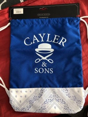 Cayler & Sons Pouch Bag neon blue-white