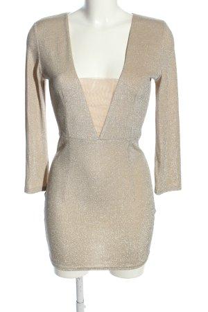 CBR Suknia wieczorowa jasnoszary-kremowy Elegancki