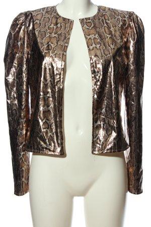 CBR Bolero bronzefarben-silberfarben Allover-Druck extravaganter Stil