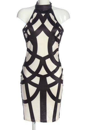 CBR Sukienka etui biały-czarny Na całej powierzchni W stylu biznesowym