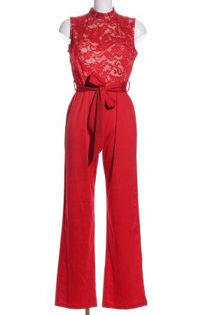 CBR Jumpsuit rot Blumenmuster Elegant