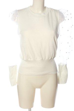 CBR Bluzka z długim rękawem biały Imprezowy wygląd