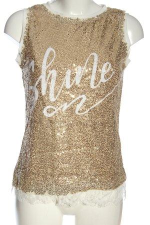 CBR Canotta oro caratteri stampati con glitter