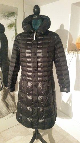 White Manteau en duvet noir