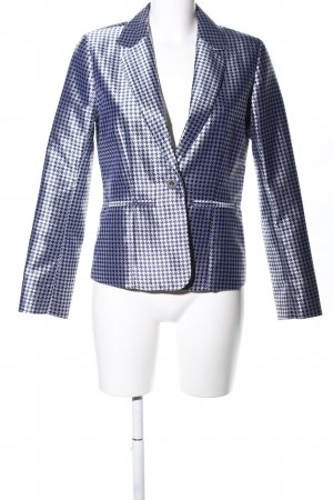 CC Double O Long-Blazer blau Allover-Druck Business-Look
